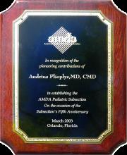AMDA plaque