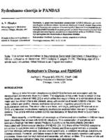 Sydenham's Chorea and PANDAS. Neurologijos Seminarai