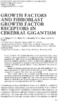 Growth factors and fibroblast growth factor receptors in cerebral gigantism