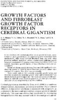 Growth factors and fibroblast growth factor receptors in cerebral gigantism