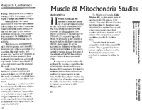 """Muscle and mitochondria studies"", The CFIDS Chronicle"