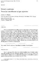 Down's Syndrome: precocious neurofilament antigen expression