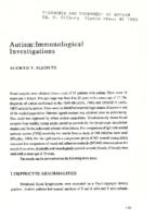 Autism: immunologic investigations