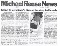 "Theodore Berland, ""Secret to Alzheimer's disease lies deep inside cells"""