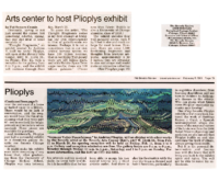 "Pat Sommers Cronin, ""Arts center to host Plioplys exhibit"""