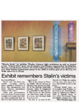 Carol Flynn, Exhibit remembers Stalin's victims, Beverly Review, September 28, 2016