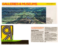 """Galleries & Museums"", Chicago Reader, Chicago, IL, February 10, 2011"