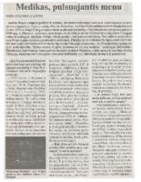 """Raimundas Marius Lapas, """"Physician in whom art pulsates"""""""