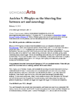 "Drew Messinger Michaels, ""Audrius V. Plioplys on the blurring line between art and neurology"""