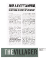 Carol Flynn, Exhibit Warns of History Repeating Itself, The Villager, October 2016