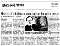 "Jon Anderson, ""Matters of mind make great subject for artist doctor"", Chicago Tribune, Chicago, IL, February 6, 2003"