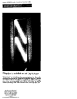 """Plioplys to exhibit art at Lightology"", Beverly Review, Chicago, IL, December 4, 2002"