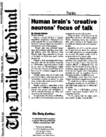 "Dinesh Ramde, ""Human brain's 'creative neurons' focus of talk"""