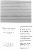 Art Artner, Chicago Tribune, Chicago, IL, April 26, 1996