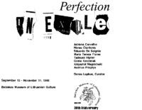 Perfection in Exile, Balzekas Museum, Chicago, IL, August 23-November 22, 1996