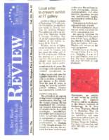 """Local artist to present exhibit at IIT gallery"", The Beverly Review, March, 2009"