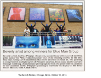 "Caroline Connors, ""Beverly artist among winners for Blue Man Group"""