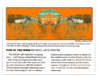 Pick of the Week: Beverly Arts Center, Chicago Tribune, October 16, 2014