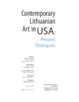 """Danas Lapkus, """"Contemporary Art in USA: Present Dialogues"""" Šiuolaikinė Lietuvių Dailė, 2009"""