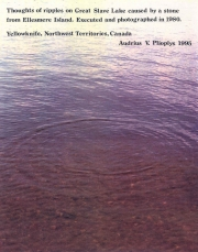 Thoughts of Ripples on Great Slave Lake