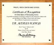 Philip Rock plaque