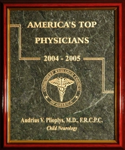 Top Physician plaque