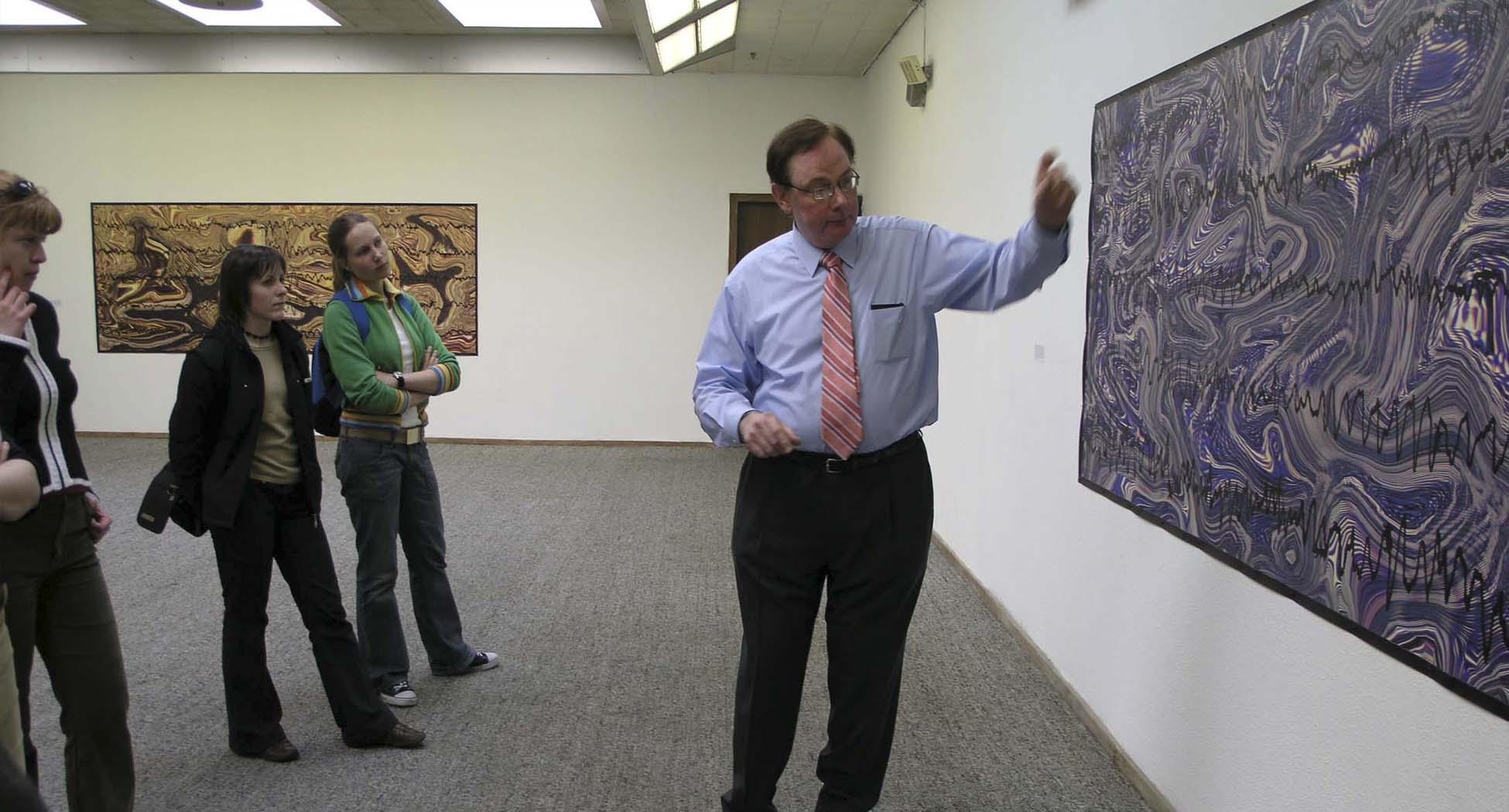 Presentation to art students
